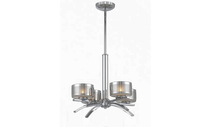Gianna Collection 4-Light Chrome Plated Chandelier