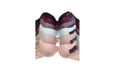 Unibasic Women Polyester Full Molded Cup Jacquard Bra - 6 Pack 4e1a5eb4-2f0f-4aab-bab6-efa1809ba0a7
