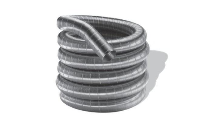 Aluminum 3x35 Dura-Vent Aluminum Chimney Liner 2-ply .010 in