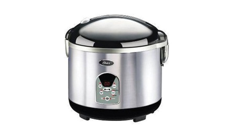 Oster Smart Digital 20-Cup Rice Cooker-Brush Stainless Steel 07b24995-e30d-4eb7-a46a-97bd25499d19