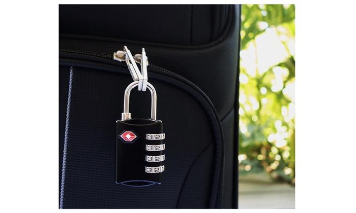 4 Digit Combination Steel Padlocks Luggage Locks (2 Pack)