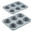 Cake Boss Bakeware 2-Pc Round & Square Stacked Cakelette Pan Set