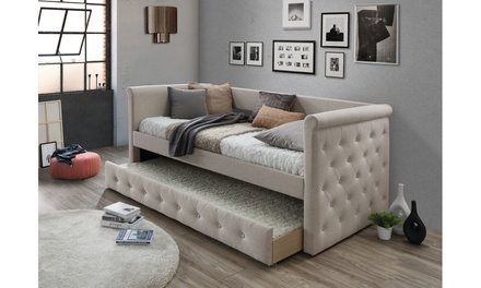 Alena Tufted Daybed with Trundle Bed