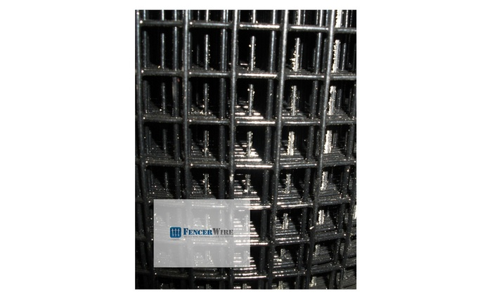 Fencer Wire Welded Wire Fence Vinyl Coated Black, 1 x 1 in. Mesh ...