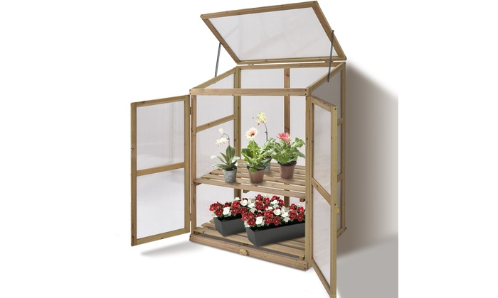 Up To 35% Off on Garden Portable Wooden GreenH... | Groupon Goods