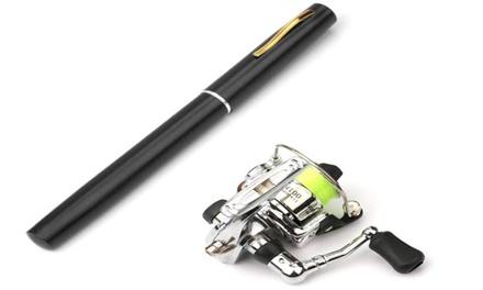 Pen Fishing Rod Reel Combo Set Premium Mini Pocket Collapsible Fishing Pole Kit