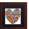 Hello Angel 'Floral Heart' Matted Wood Framed Art