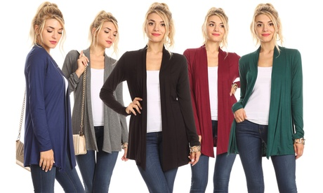 Nelly Women's Open-Front Draped Cardigan (2-Pack) 68d26dc7-2abc-4247-a492-e34c762a31fb