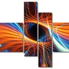 Centered - Large Contemporary Canvas Art - 63x32 - 4 Panels