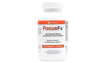 Focus FX Stimulant-Free Brain and Memory Booster Supplement (60-Count)
