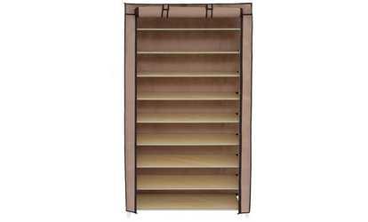 Groupon Portable Shoe Rack Closet Fabric Cover Storage Organizer Cabinet