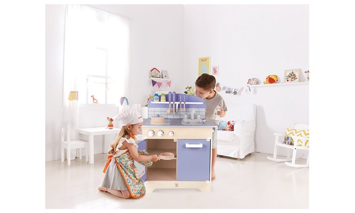Hape Kitchen Play Set – Wooden Play Kitchen for Boys and ...