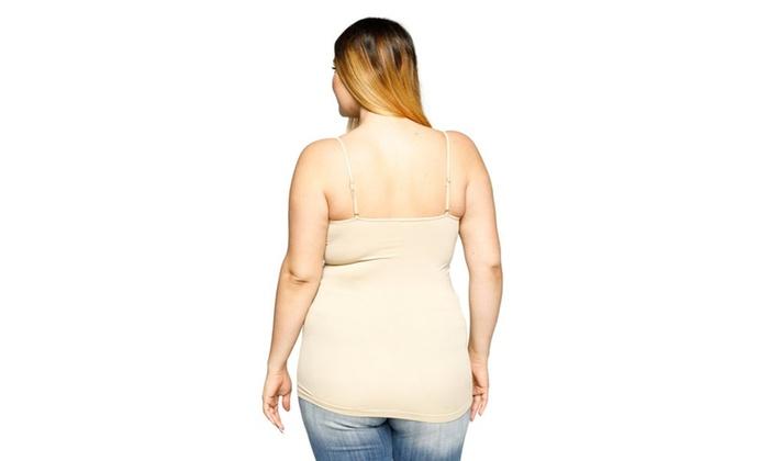 0a5e8b940a7 ... Xehar Women s Plus Size Spaghetti Strap Stretch Cami Tank Top