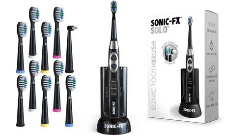 Sonic FX Solo Toothbrush w/ 10 Brush Heads & 1 Interdental Head