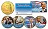 Groupon Goods: Barack Obama Presidential 24KT Gold Plated Hawaii Statehood Quarter 4-Coin Set