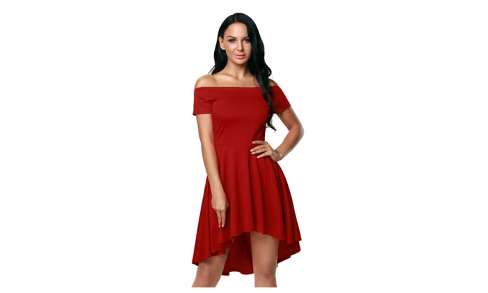 cbe65cebad Women s Hot Red All The Rage Skater Dress