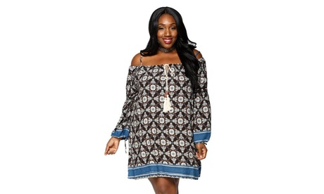 Xehar Women's Plus Size Casual Loose Boho Midi Short Dress 394d584b-7a9d-4837-bbf9-4c5b4bfab9b5