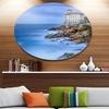 Beautiful Italian Seashore View' Disc Seascape Metal Circle Wall Art