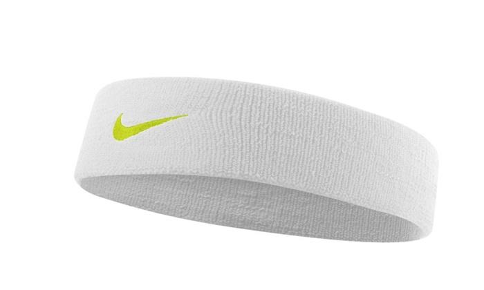 Nike Dri-Fit Headband, White/Volt