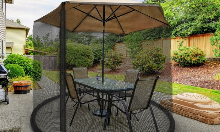 Pure Garden Patio Umbrella Bug Net Screen ...