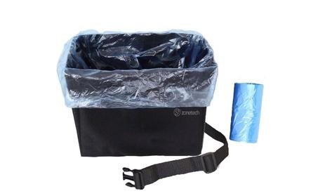 Zone Tech Trash Bag Garbage Car Litter Bin Organizer Leakproof Strap 24d9ac15-540d-4ec3-82f7-a402c806ae02