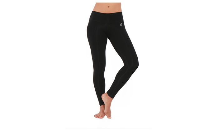 Green Apple Bamboo Essential Leggings in Black