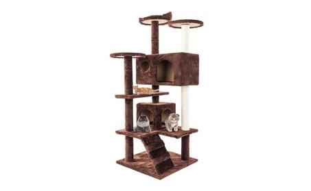 """52"""" Solid Cute Sisal Finiture Cat Tree Tower Brown aae07fc4-9728-4440-bd85-9738458720ef"""