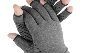 Arthritis Gloves With Grips Open Fingers For Men And Women