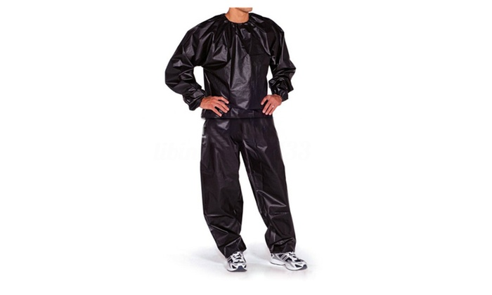 BodyFit Heavy Duty 2 piece Sauna Suit Size Small/Medium – Black