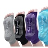 Yoga Socks 4 Packs Non Slip Skid Toe Grips Pilates Barre Women Men