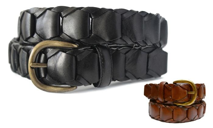 768 Toneka Men's Casual Vintage Cowhide Full grain Leather Belt