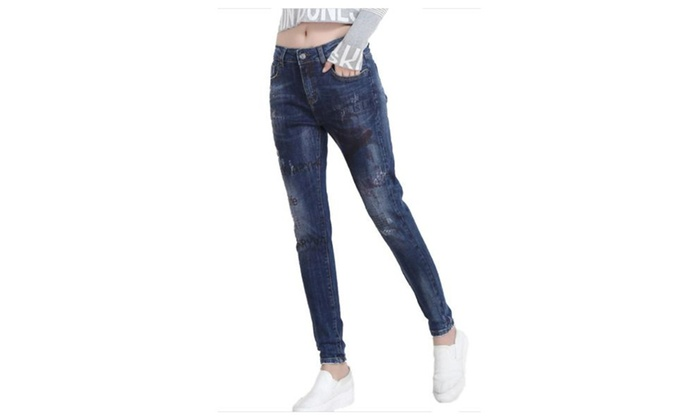 Women's Printed Skinny Slim Fit Casual New Arrival Jeans