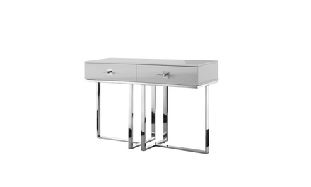 Ohana High Gloss Stainless Steel Console Table