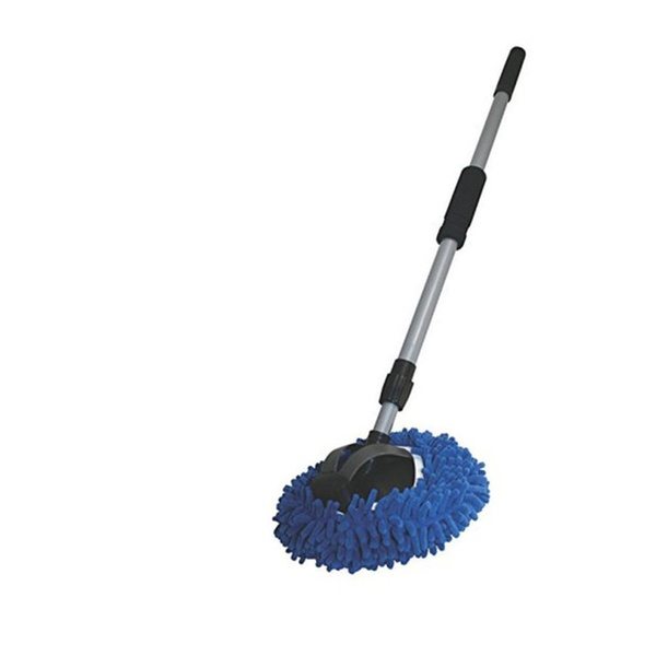 9 2 In 1 Long Chenille Microfiber Wash Mop With 48 Extension Pole