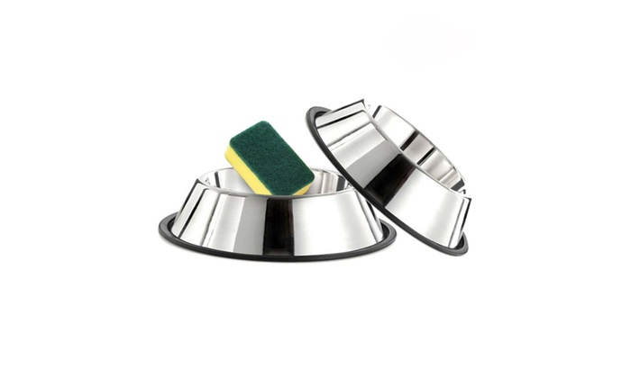 how to clean stainless steel dog bowls