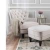 Talon Fabric Club Chair and Ottoman Set