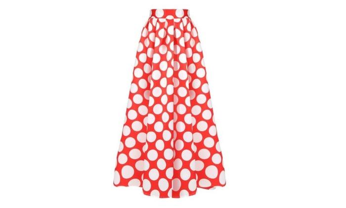 Women's Scalloped Hem Regular Fit Casual HiddenZipper Skirts