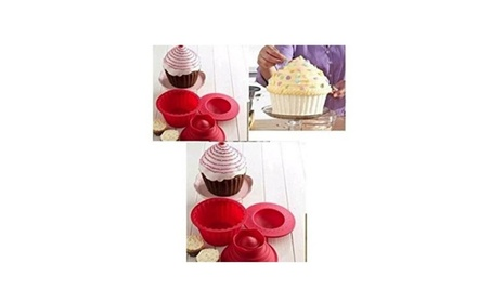 3pcs Silicone Jumbo Giant Big Top Birthday Cupcake Cup Cake Mould Bake 68822281-6d73-4181-86c4-59bfae30a63a
