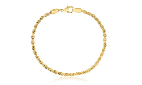 18K Gold Plated Rope Chain Ankle Bracelet