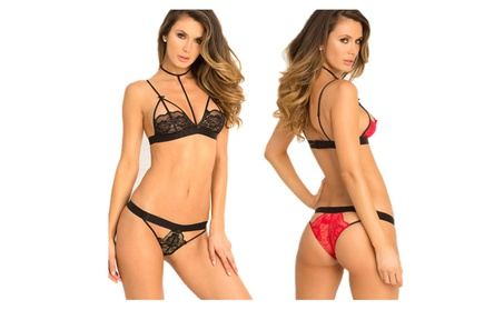 Women's Sexy Open Cup Bra Lingerie Lace Babydoll Bodysuit Sets 1511b809-8b8a-4d50-ad1a-604ff5d8e31f