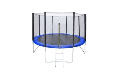 BCP 15' Round Trampoline 5 Legs Frame With Safety Enclosure, Padding c60256b5-16e1-44a2-b215-fe670b4fa65d