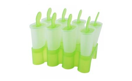 Delidge 1 Set 8 Cells Popsicles Mold Plastic Frozen Ice Cream Pop Mold 9f7988d2-328f-4a8d-af40-1b587024557f