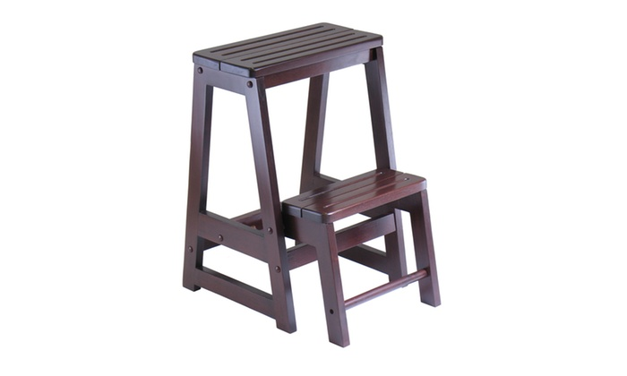 Fabulous Winsome Step Stool Double Groupon Creativecarmelina Interior Chair Design Creativecarmelinacom