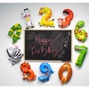 Animal Number Party Balloons – 10 Pack