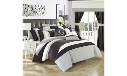 24 Piece Vincenza Complete Bedroom Set Bed In a Bag Comforter With sheet set