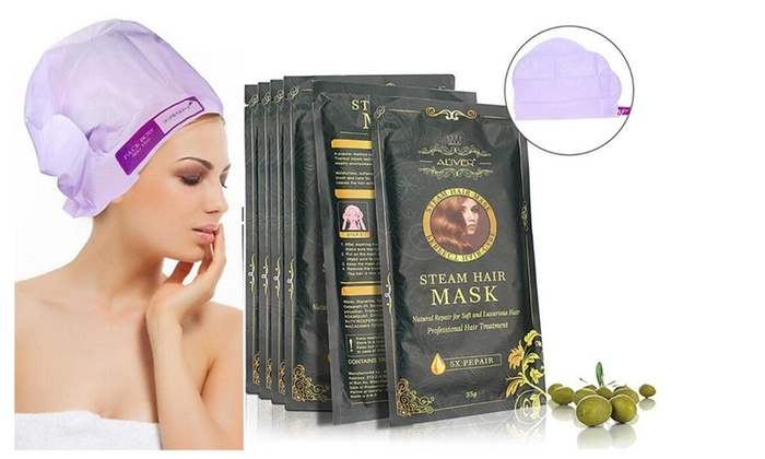 ALIVE Steam Hair Mask Automatic Heat Argan Oil Keratin