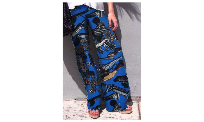 Women's Weapons Caches Cool Print Women Palazzo Pants