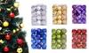 24Pcs Christmas Shatterproof Hanging Balls for Christmas Tree Ornament