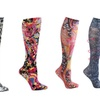 Compression Sock Pink Paisley
