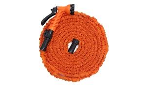 Latest 50/75/100FT Expandable Garden Hose & Spray Nozzle - Orange